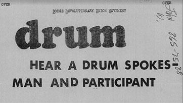 DRUM Flyer with Demands (August 9, 1968)
