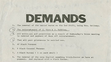 List of Workplace Demands (1969)