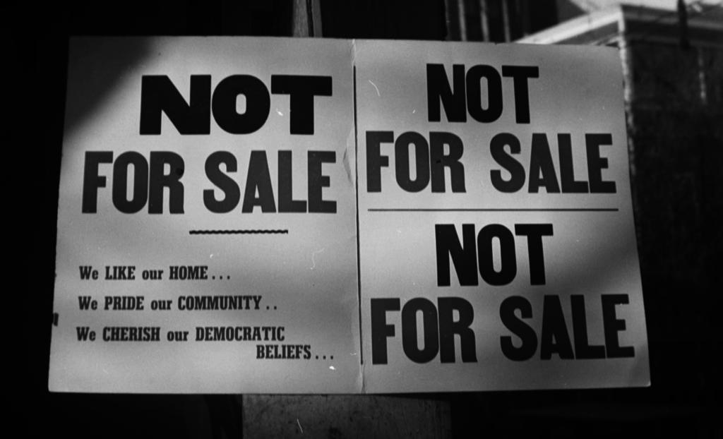 Anti-Blockbusting Sign, 1954