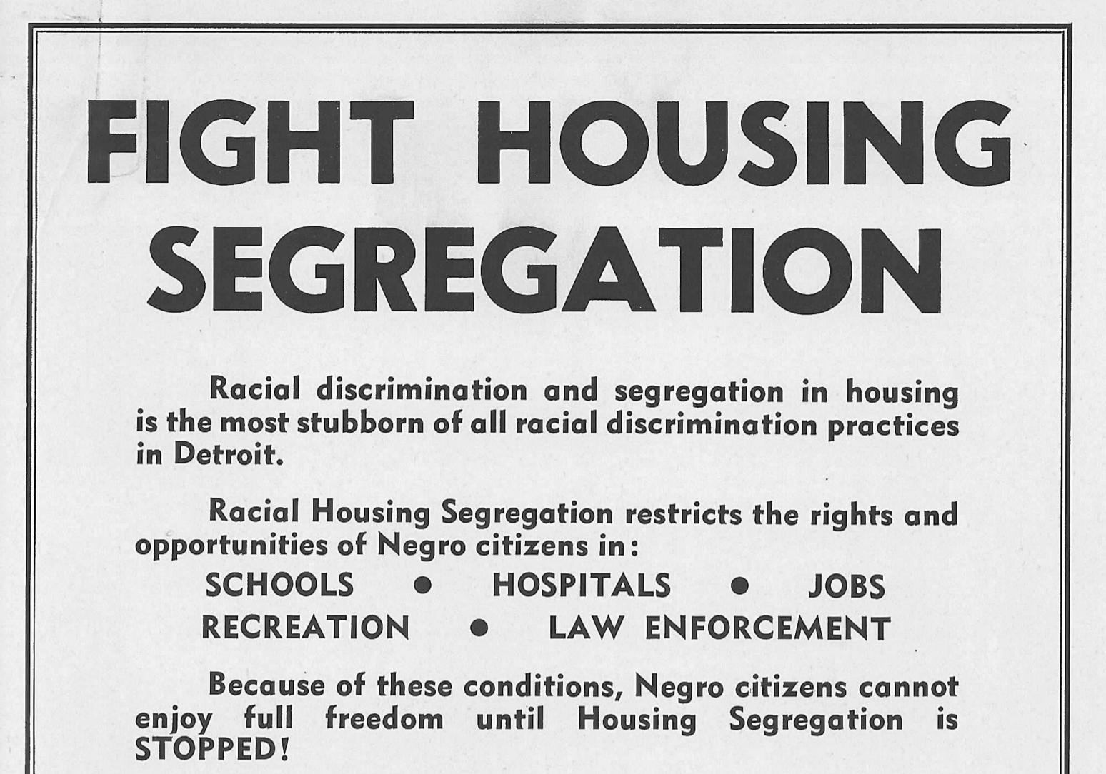 Fight Housing Segregation