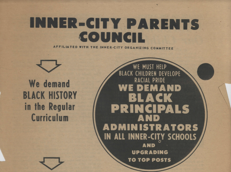 Inner-City Parents Council Flyer, 1967