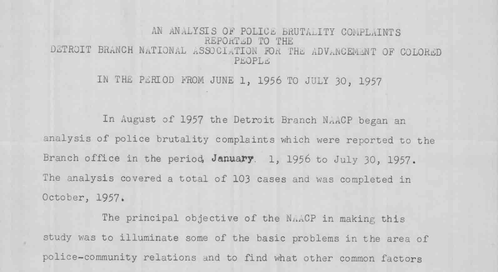 Analysis of Police Brutality Complaints