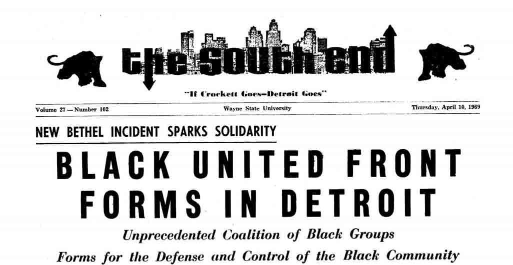 The South End, vol 27, no 102 (April 10, 1969)