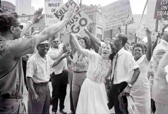 Crowds Protest Killing of Cynthia Scott (1963)