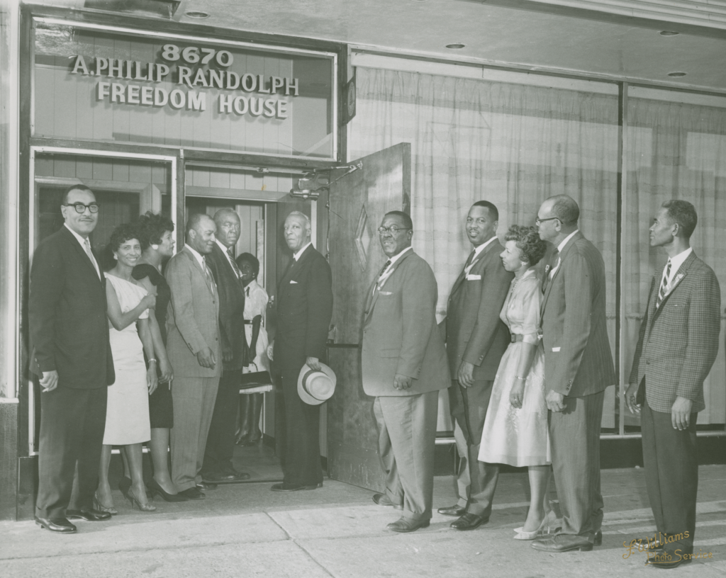 Labor Leaders in Front of A. Philip Randolph Freedom House