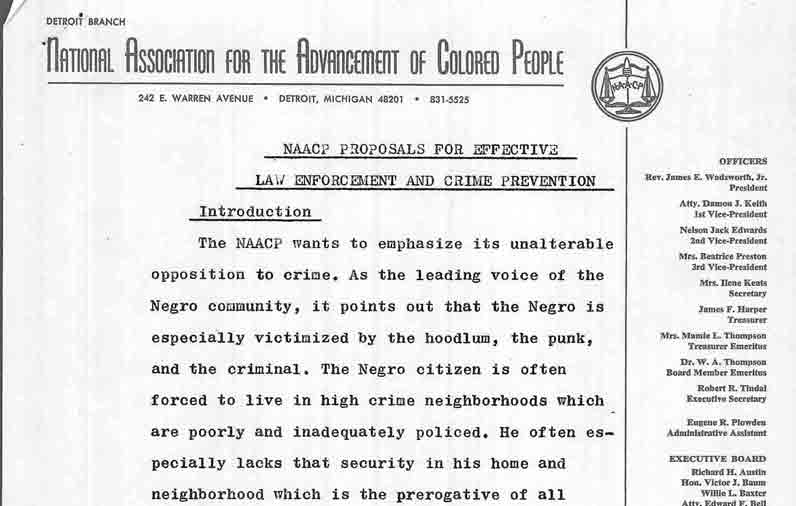 NAACP Proposals For Effective Law Enforcement and Crime Prevention
