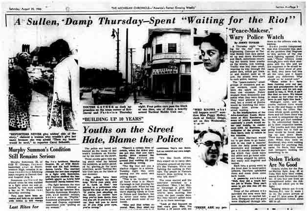 Newspaper, The Michigan Chronicle, Kercheval, 1966