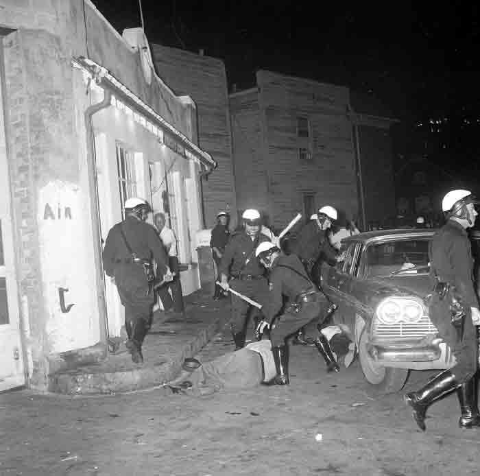 Police at Demonstration Against Police Brutality (1963)