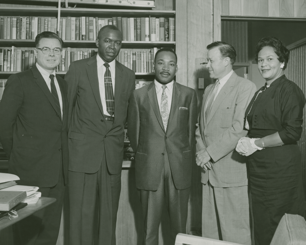 Reuther Bros, Sheffield, MLK, and Hatcher, 1957