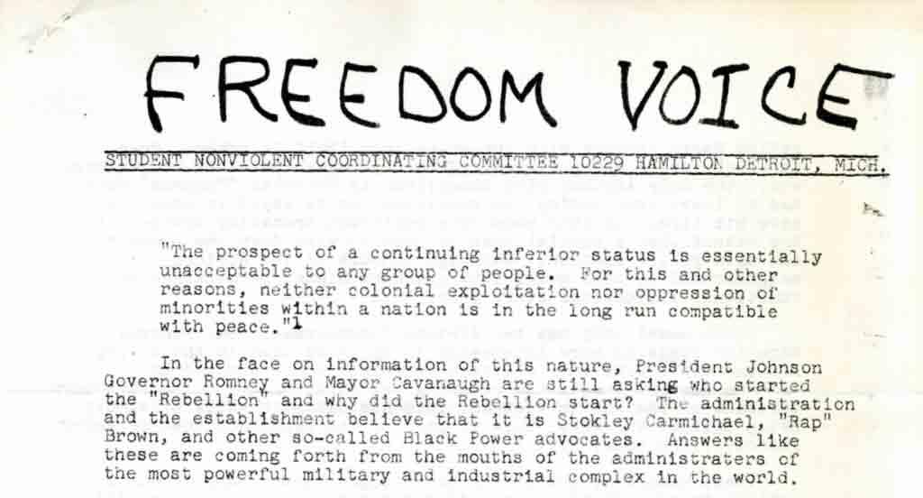 SNCC Freedom Voice, 1967