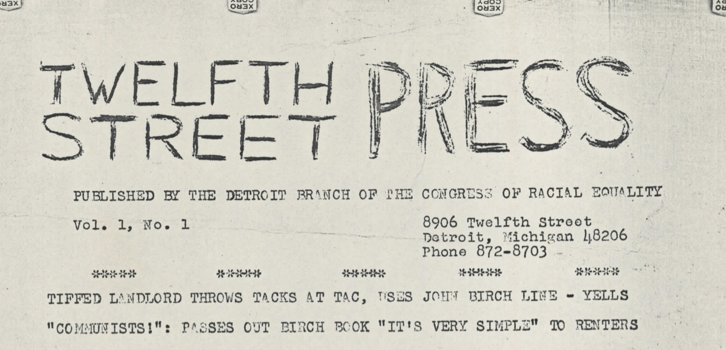 Twelfth Street Press, vol. 1, no.1 (1965)