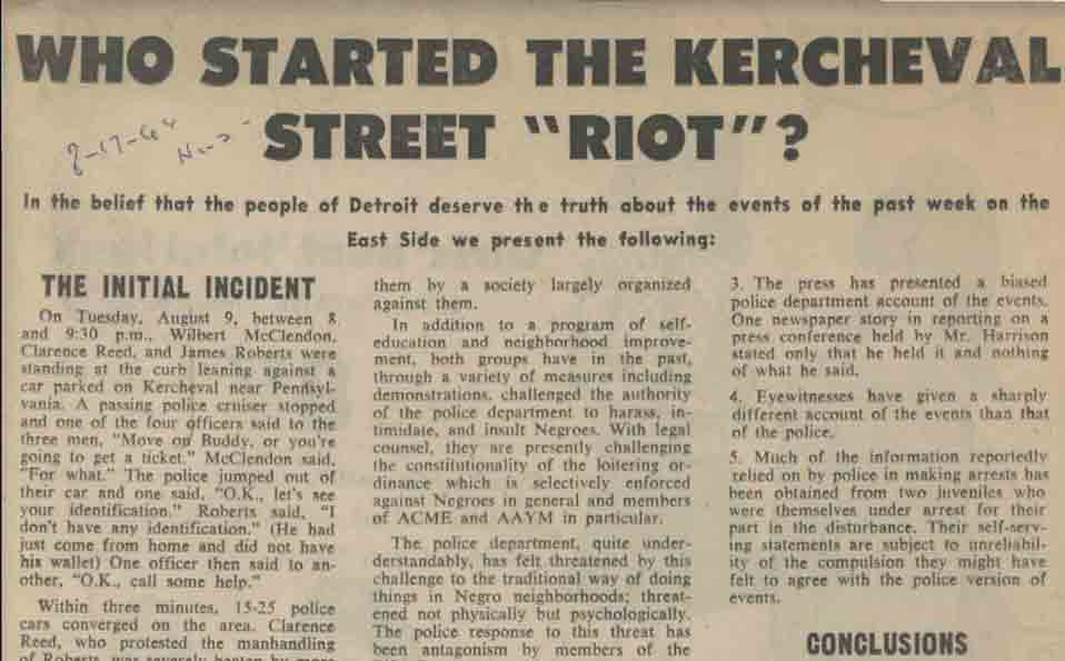Who Started the Kercheval Street