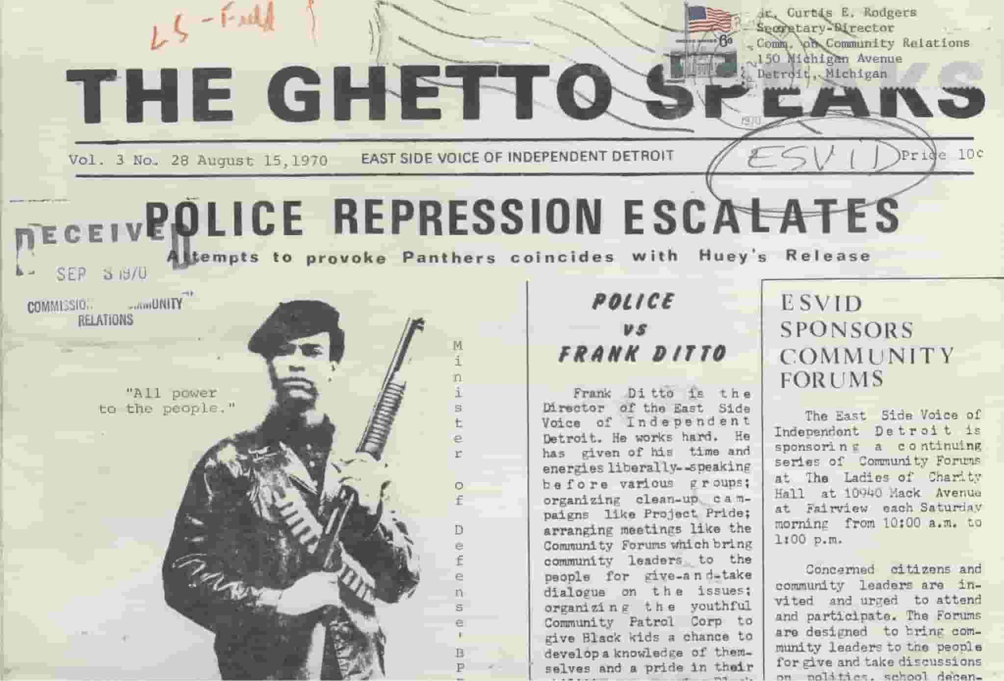 The Ghetto Speaks (August 15, 1970)