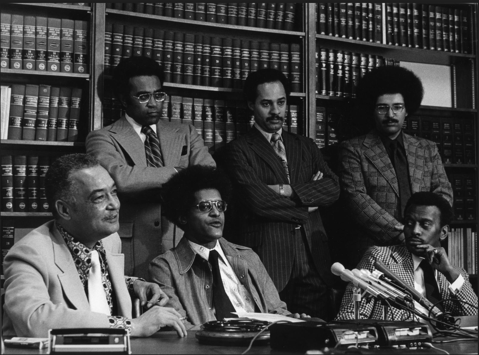 Coleman Young and Ken Cockrel at Press Conference
