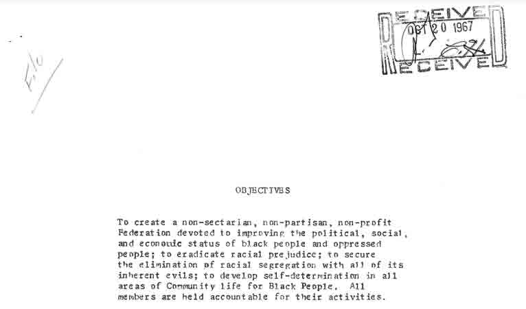 Federation for Self-Determination Founding Document, October 1967