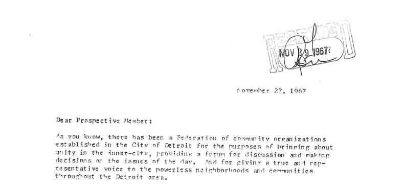 Invitation to FSD General Assembly, November 27, 1967