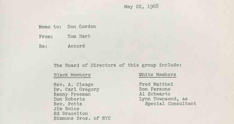 Memo on Accord Inc (1968)