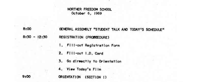 Northern Freedom School Curriculum